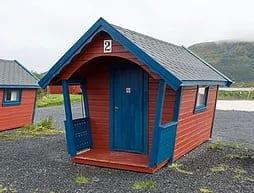 Enkel standard hytte.