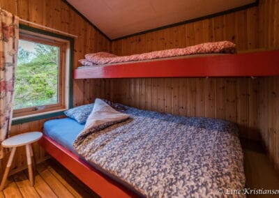 Bedroom with bunk bed.