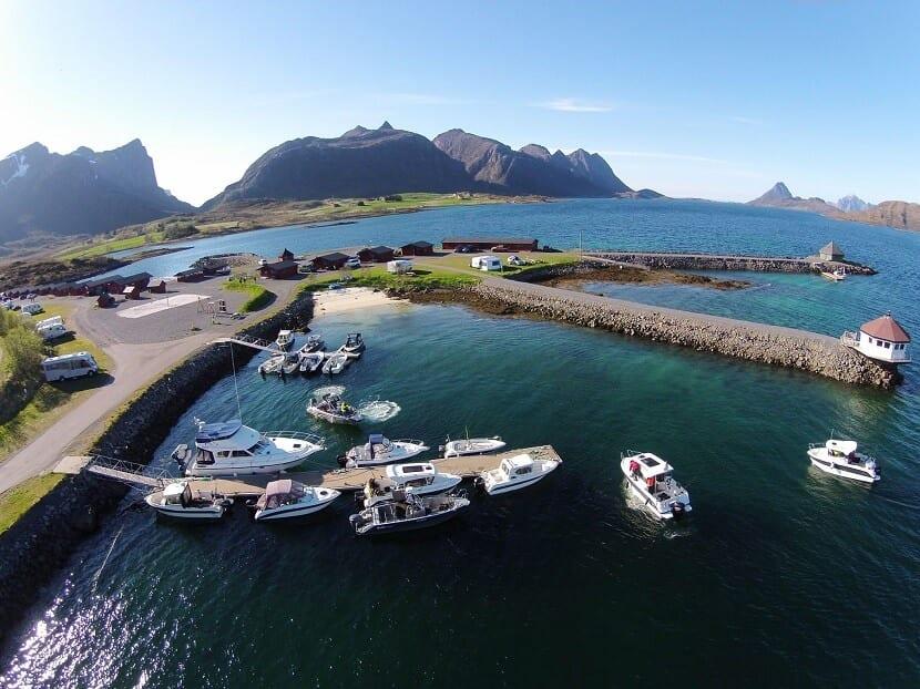 Blick auf Fjordcamp.