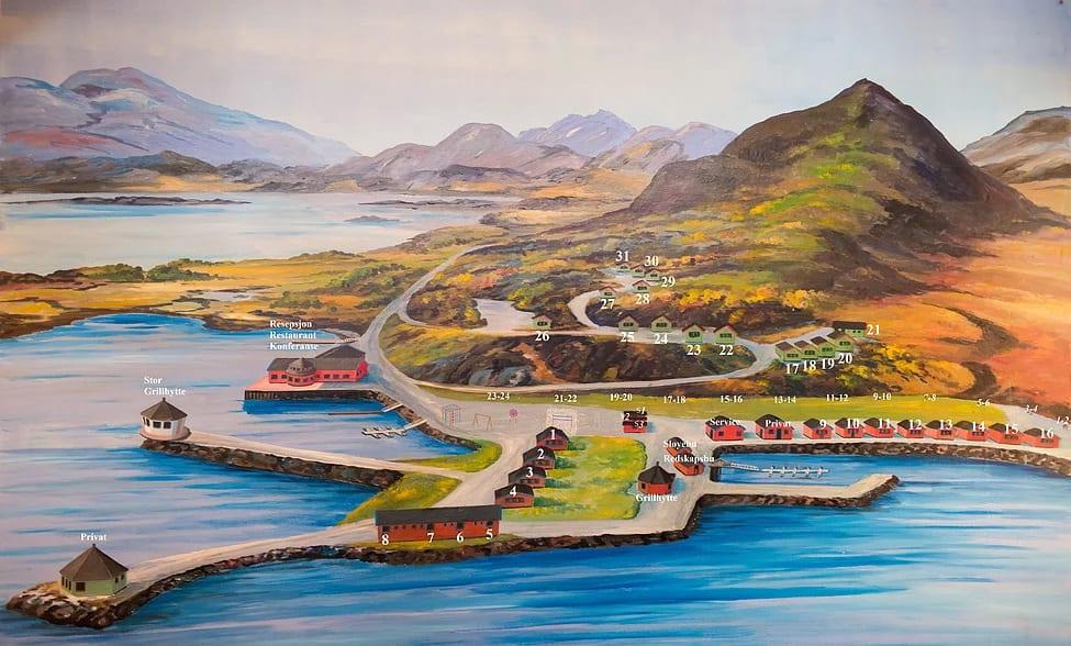 Map illustration of Fjordcamp.