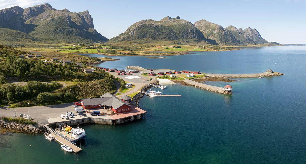 Utsikt over Fjordcamp.
